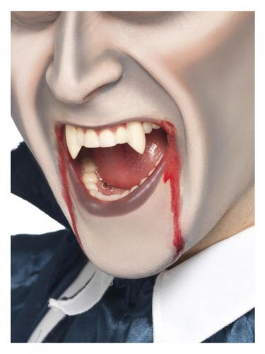 Smiffys Make-Up FX, Vampire Fang Tooth Caps, White.