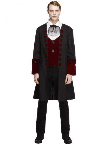 Male Fever Gothic Vamp Costume, Black