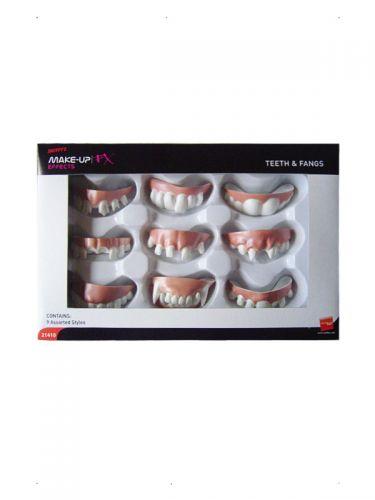 Smiffys Make-Up FX, Assorted Teeth & Fangs.