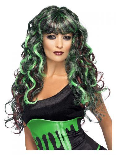 Monster Wig, Black & Green