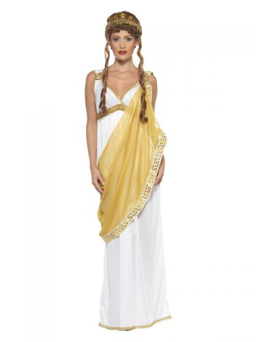 Helen of Troy Costume, White & Gold