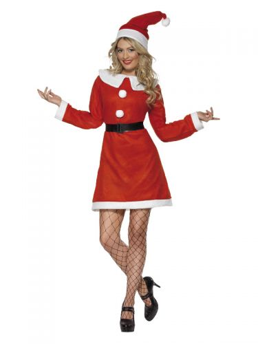 Miss Santa Costume, Red