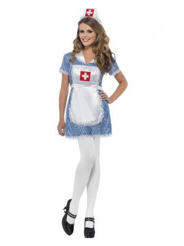 Nurse Naughty Costume, Blue