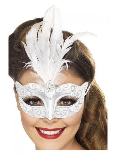 Venetian Glitter Eyemask, Silver
