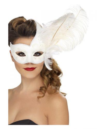 Ornate Columbina Eyemask, White
