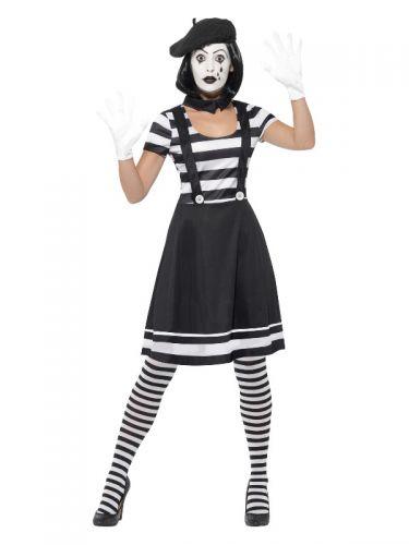 Lady Mime Artist Costume, Black