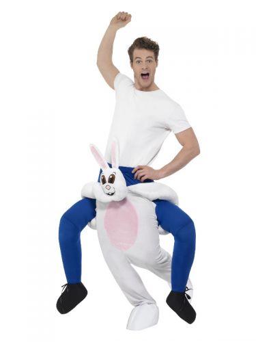 Piggyback Rabbit Costume, White