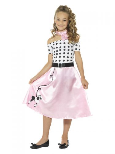 50s Poodle Girl Costume, Pink