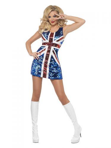 Fever All that Glitters Rule Britannia Costume, Bl
