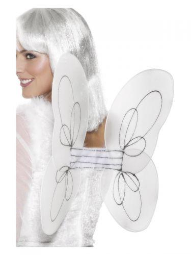 Angel Glitter Wings, White & Silver