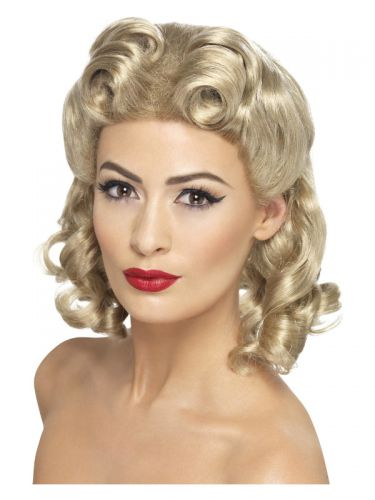40s Sweetheart Wig, Blonde