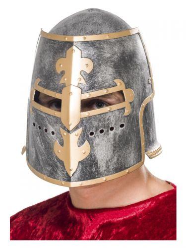 Medieval Crusader Helmet, Silver