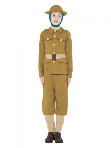 Horrible Histories WWI Boy Costume, Green