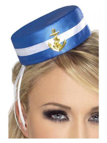 Fever Pill Box Sailor Hat, Blue