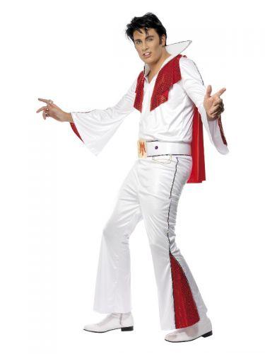 Elvis Costume, White & Red