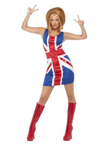 Ginger Power, 1990s Icon Costume, Red & Blue