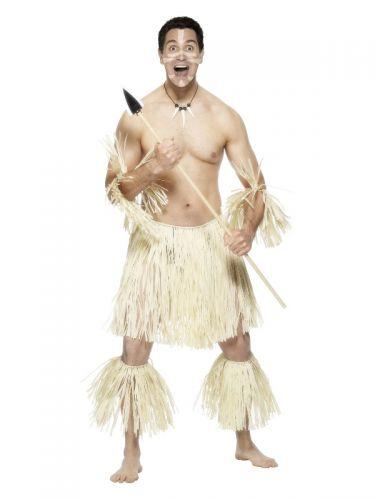 Zulu Warrior Costume, Cream