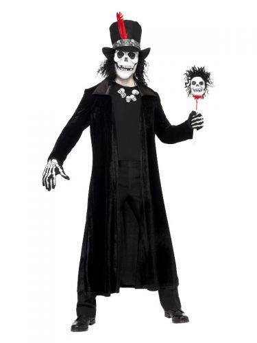 Deluxe Voodoo Man Costume, Black
