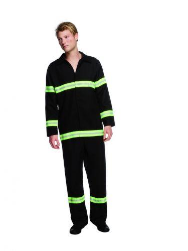Fever Fireman Costume, Black