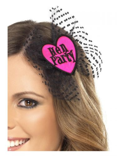 Hen Party Hair Bow, Pink