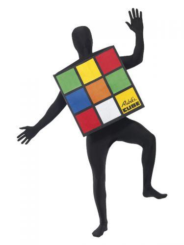 Rubik's Cube Unisex Costume, Multi-Coloured