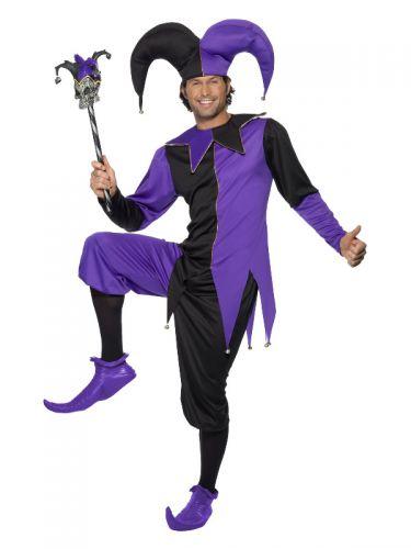 Medieval Jester Costume, Purple