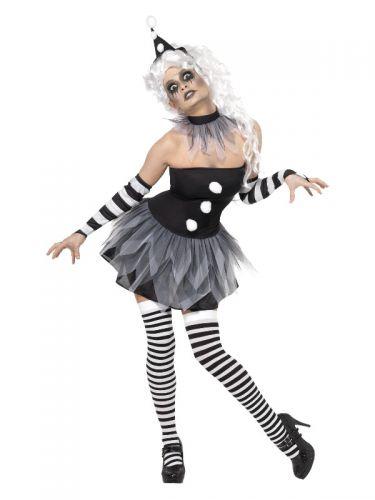 Sinister Pierrot Costume, Black