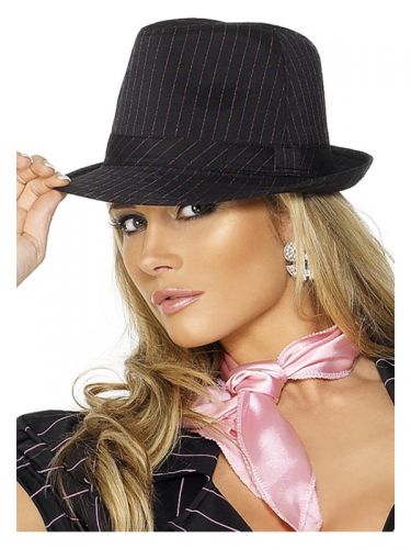 Fever Gangster Trilby Hat, Black