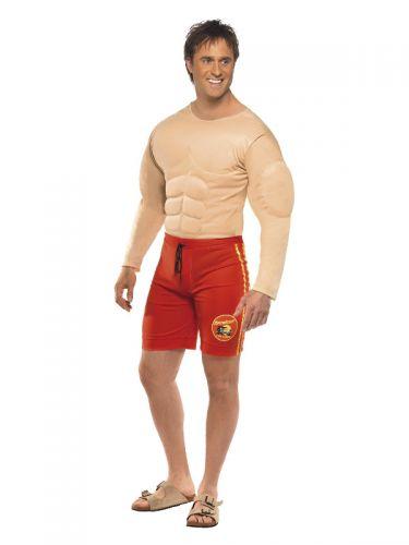 Baywatch Lifeguard Costume, Red
