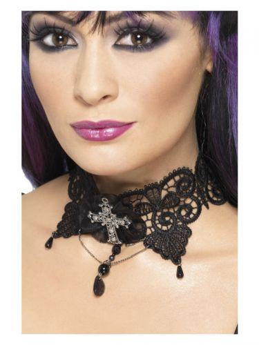 Gothic Lace Choker, Black