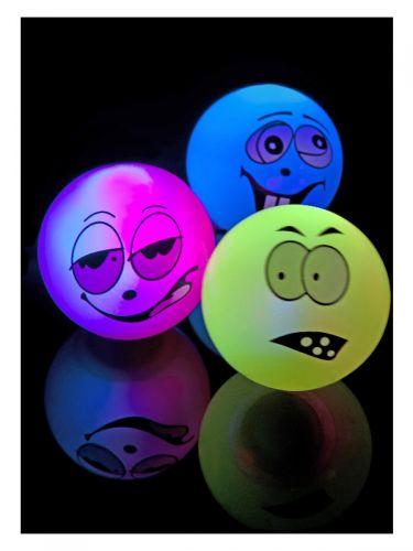 Zany Face Flashing & Bouncing Balls