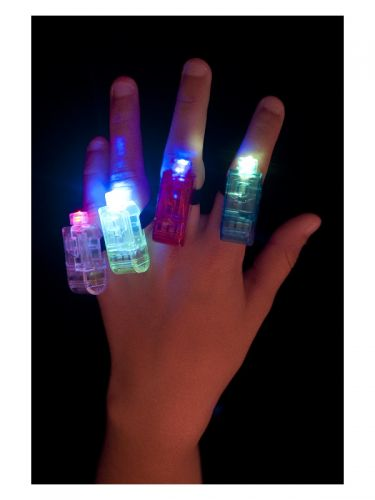 Multi Colour, Multi Flashing Finger Lights, Assort