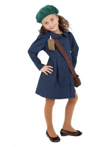 World War II Evacuee Girl Costume, Blue