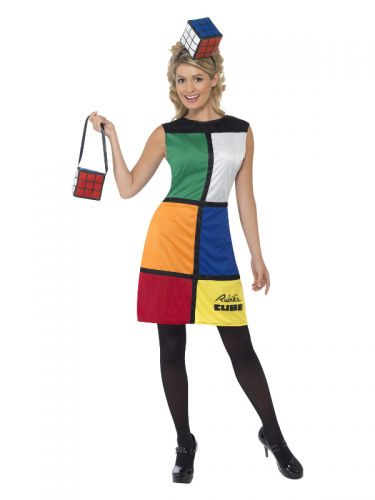 Rubik's Cube Costume, Multi-Coloured