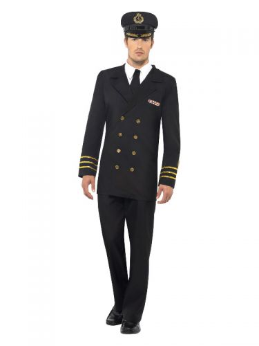 Navy Officer Costume, Black