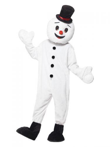Snowman Mascot Costume, White