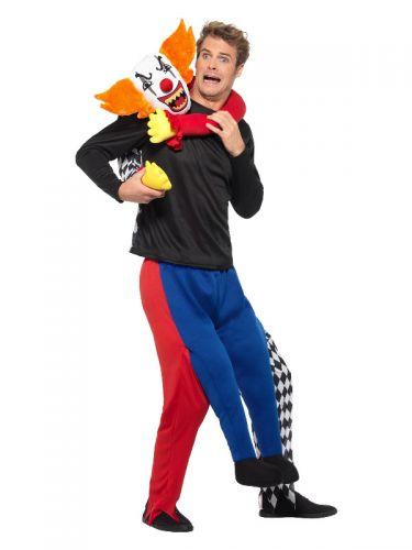 Piggyback Kidnap Clown Costume, Multi-Coloured