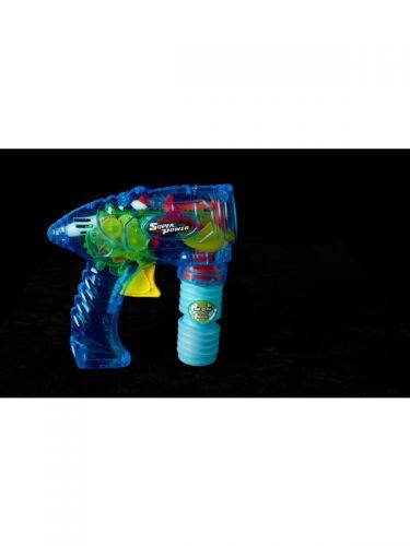 Transparent Friction Bubble Gun Blue, Blue