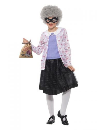 David Walliams Deluxe Gangsta Granny Costume, Purp