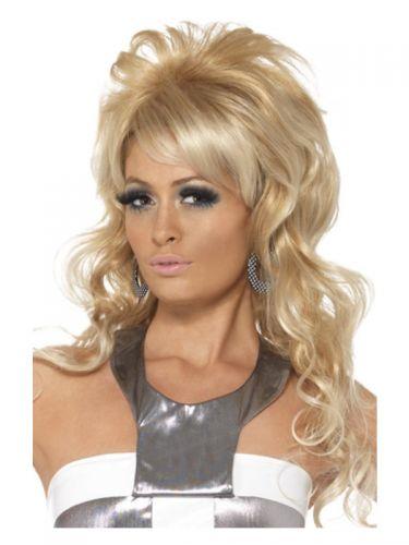 60s Beauty Queen Wig, Blonde