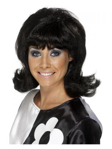 60s Flick-Up Wig, Black