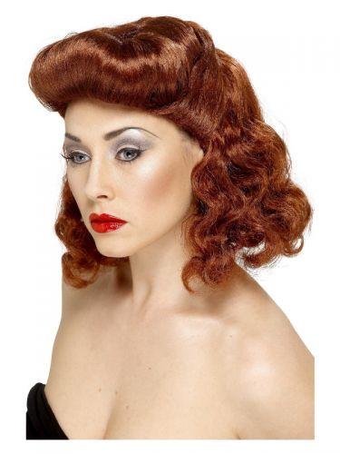 Pin Up Girl Wig, Auburn