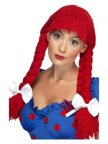 Rag Doll Wig, Red
