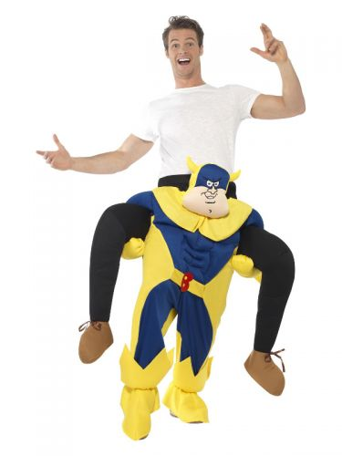 Bananaman Piggy Back Costume, Blue