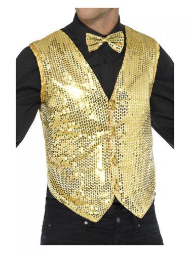 Sequin Waistcoat, Gold