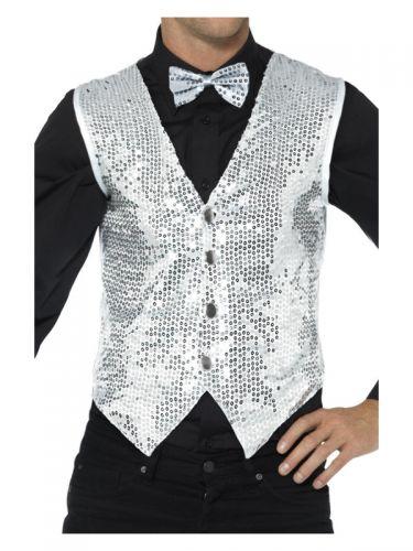 Sequin Waistcoat, Silver