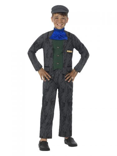Horrible Histories Miner Costume, Grey