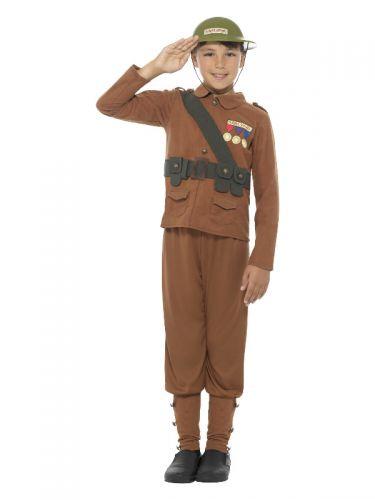 Horrible Histories Soldier Costume, Brown