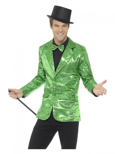 Sequin Jacket, Mens, Green
