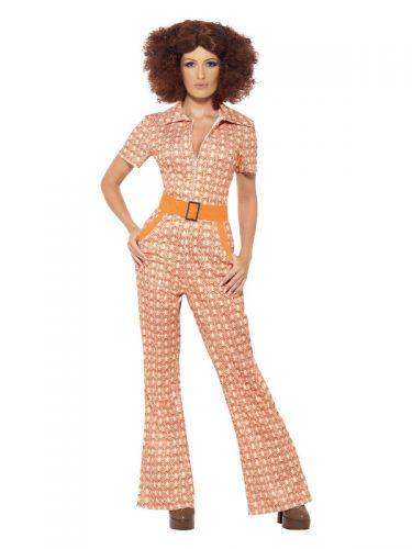Authentic 70s Chic Costume, Orange